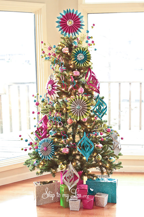 Decorate Christmas Tree On Paper : Homemade ornaments to make tip junkie