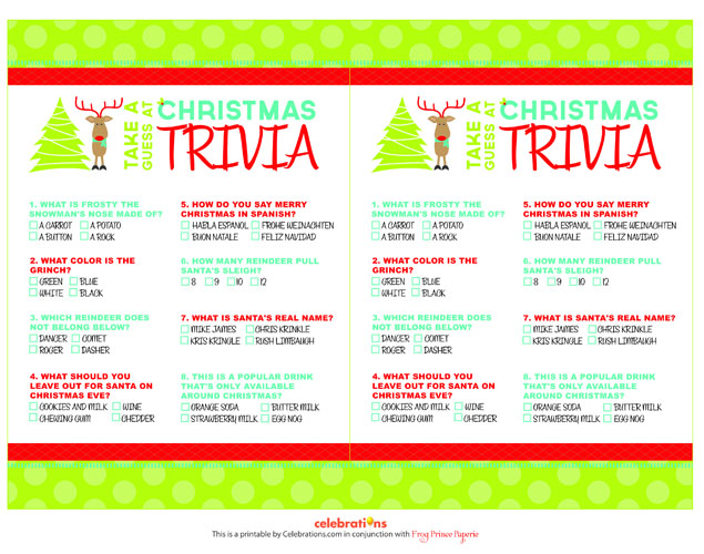 picture about Christmas Trivia Game Printable called 40 Absolutely free Printable Xmas Social gathering Game titles Suggestion Junkie