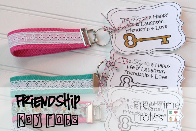 Friendship Key Fob {free printable}