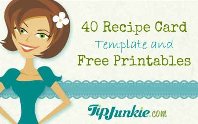 40 Recipe Card Template and Free Printables – Free Recipe Card Templates for Microsoft Word
