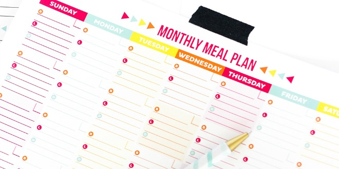 30 Family Meal Planning Templates {Weekly, Monthly, Budget} | Tip