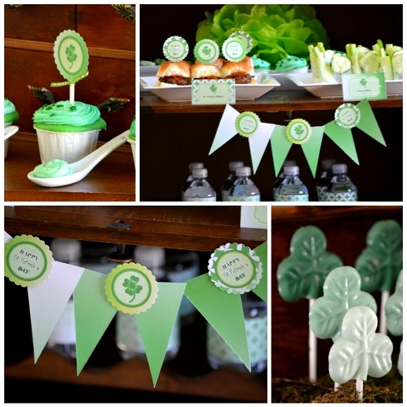 Green Ombre St. Patrick's Day Party Printables