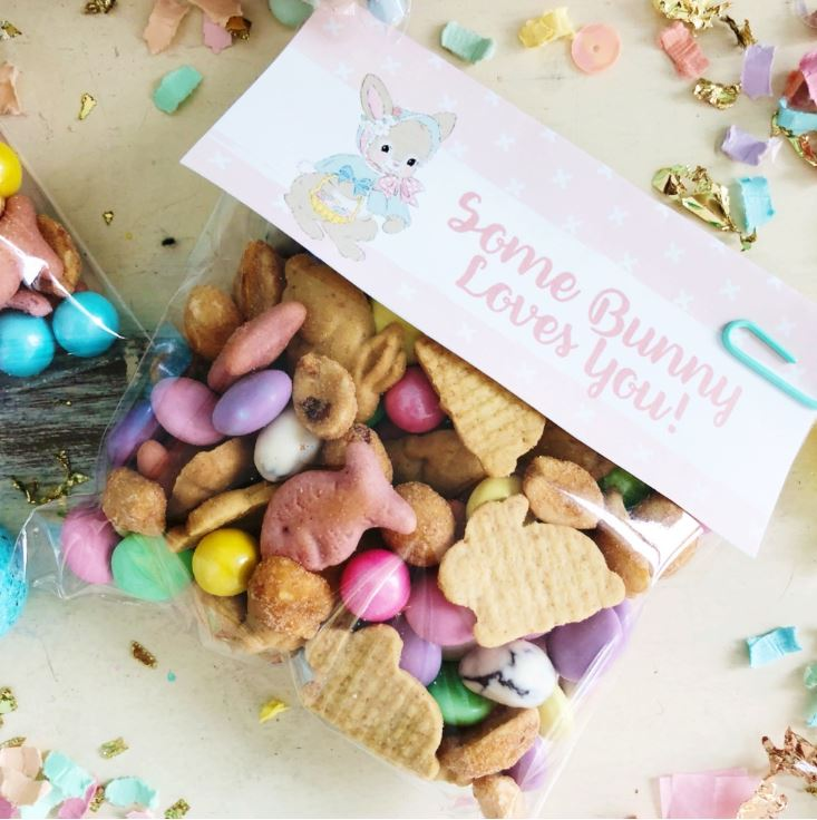 Bunny Bait Trail Mix Recipe with free printable