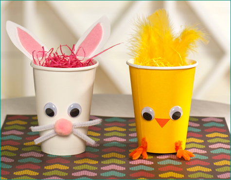 DIY Chick and Bunny Treat Holders