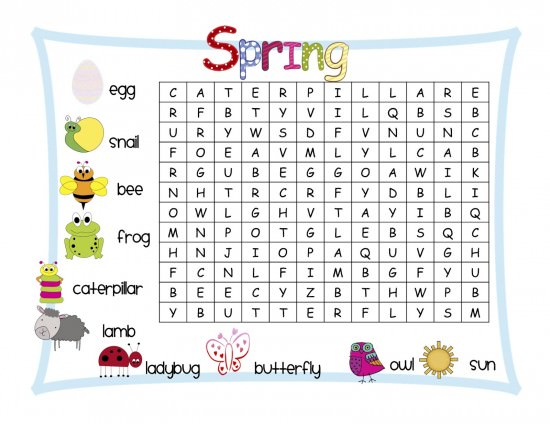 109 Fun Spring Break Activities for Children boredom busters – Spring Worksheets for Kindergarten