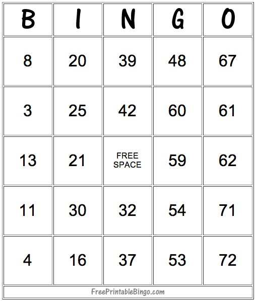 picture relating to Printable Bingo Game Patterns identify 49 Printable Bingo Card Templates Idea Junkie