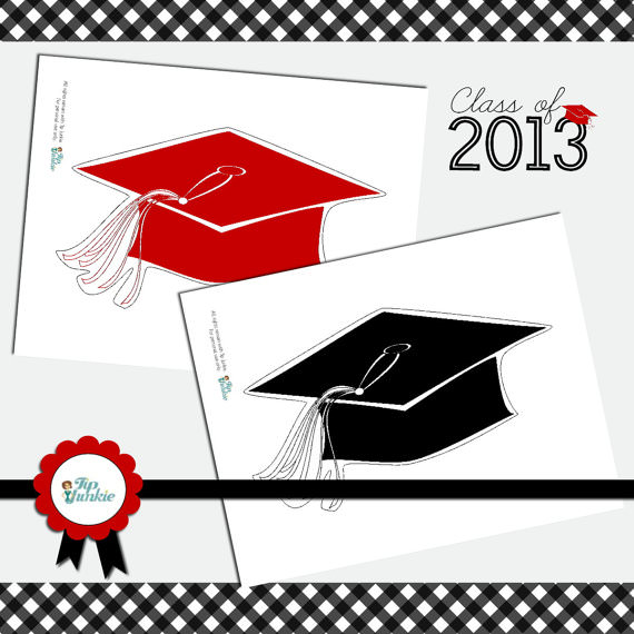 image about Printable Graduation Photo Booth Props identify Commencement Cap Photograph Prop and Backyard Indication totally free printables