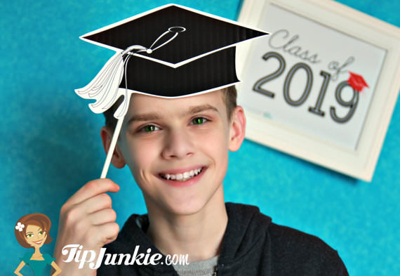 graphic about Printable Graduation Photo Booth Props identify 17 Ultimate Working day of College ~ Commencement Cap Photograph Prop Backyard garden