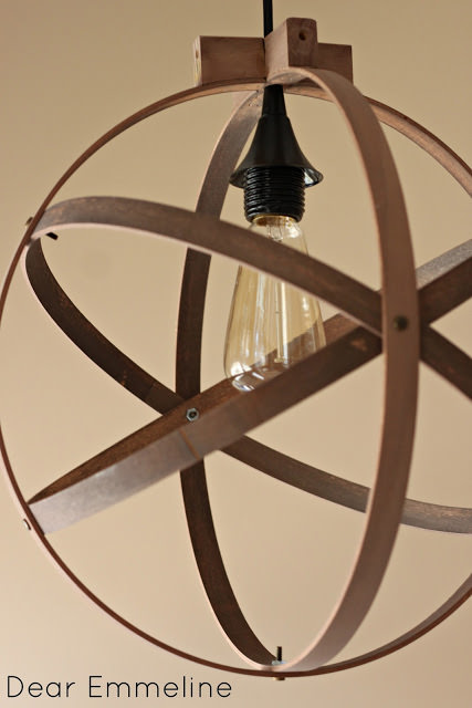 DIY Embroidery Hoop Light