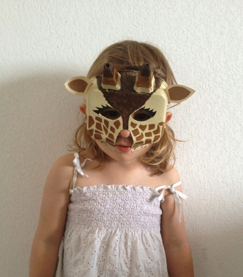 DIY Giraffe Mask