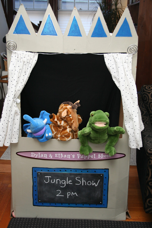Cardboard Puppet Theater