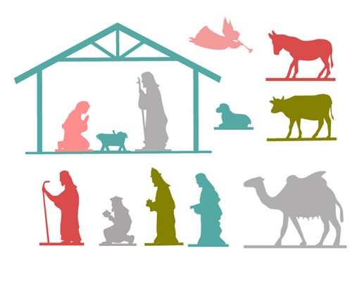 photograph regarding Nativity Templates Printable referred to as 12 Cunning Nativity Fastened Tutorials Suggestion Junkie