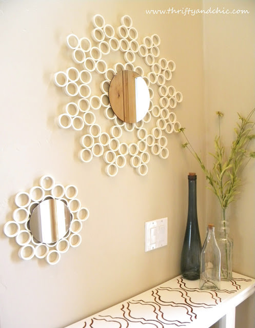How to Make a Sunburst Mirror from PVC Pipe