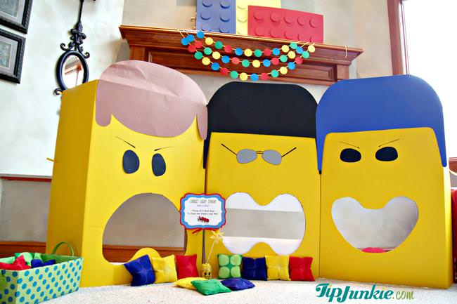 Bean Bag Toss Lego Movie Party Game
