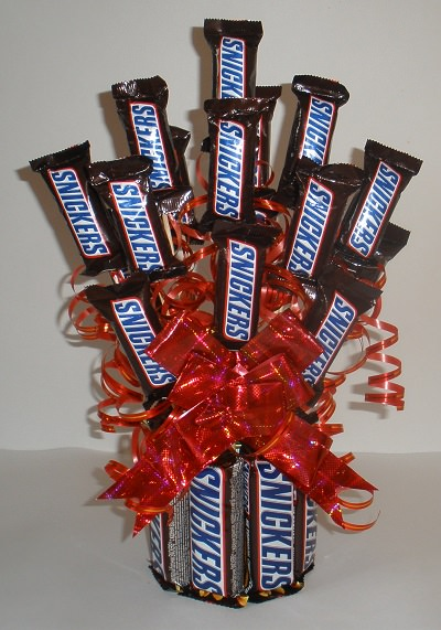 Diy Snickers Candy Bouquet Gift Tip Junkie