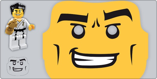 photograph about Lego Face Printable called Lego Minifigure Printable Mask for Picture Booth Suggestion Junkie
