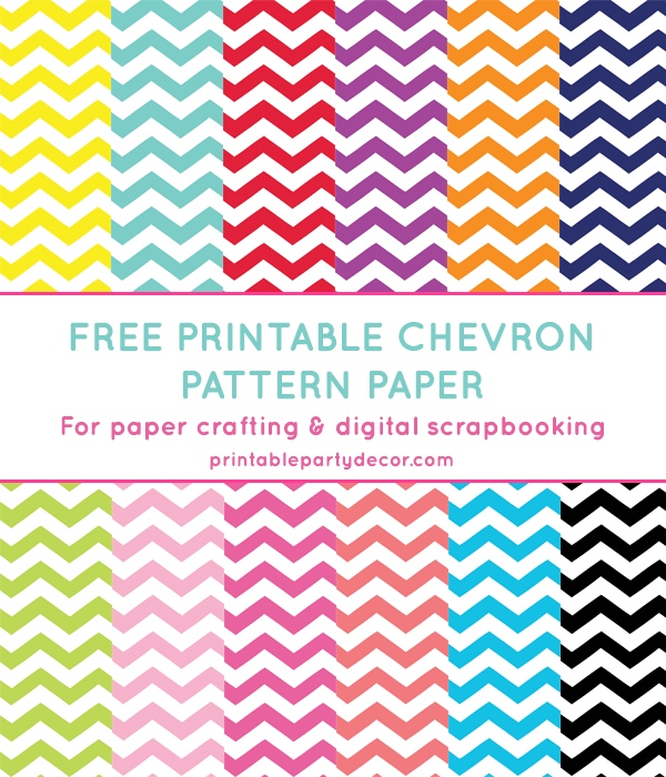 image relating to Printable Patterned Paper titled Absolutely free Printable Chevron Routine Paper Suggestion Junkie
