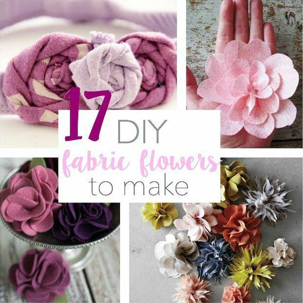 17 DIY Fabric Flowers to Make – Tip Junkie