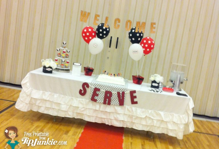 Oscar Hollywood Party Food Table with Free Printables TipJunkie