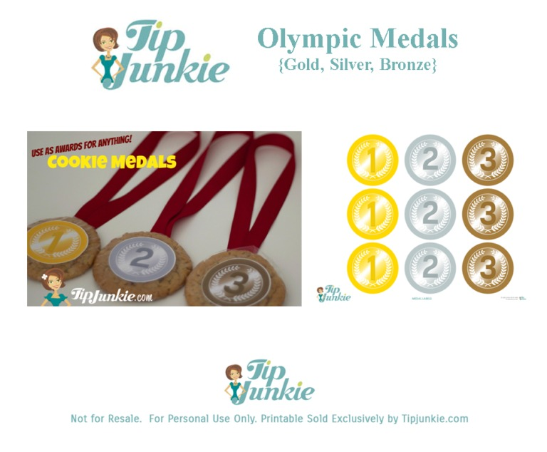 image relating to Printable Medals named Basic Olympic Gold Medal Cookies! absolutely free printable Idea Junkie