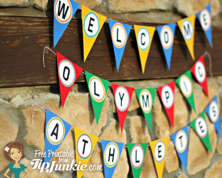 Welcome Olympic Athletes Banner by Tip Junkie