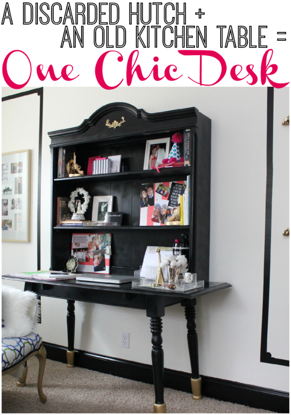 how to build a desk with table and hutch