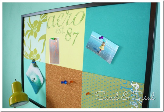 pottery barn inspired bulletin board