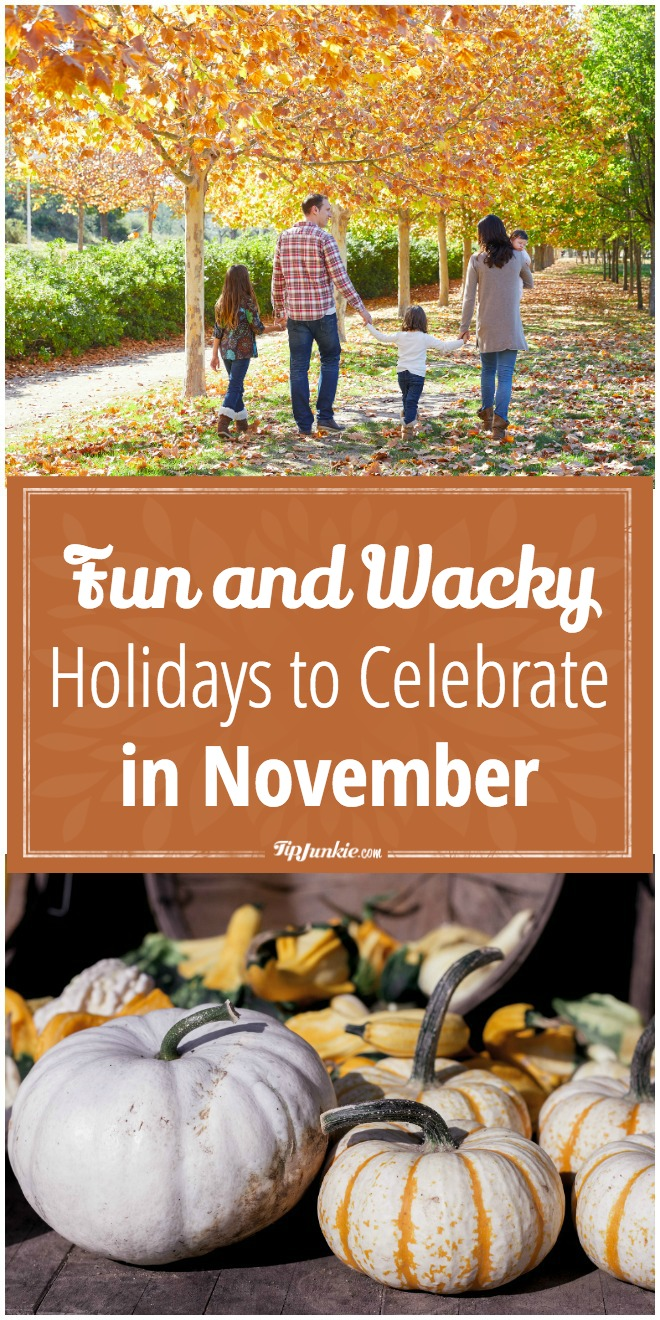 Fun and Wacky Holidays to Celebrate in November