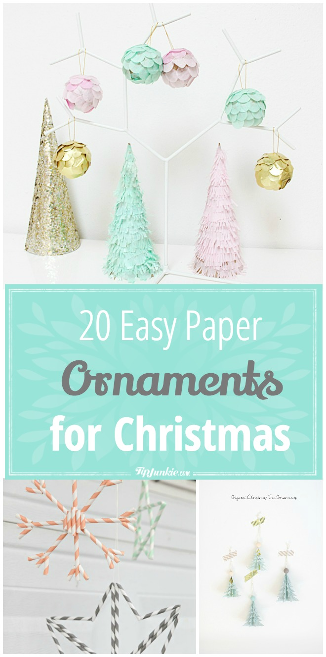 20 Easy Paper Ornaments for Christmas