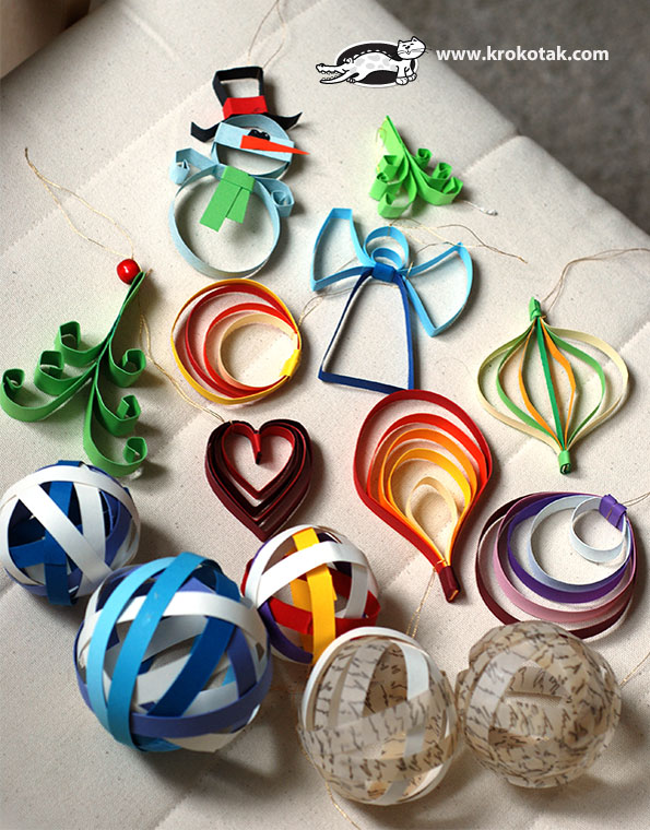 9 paper christmas ornaments