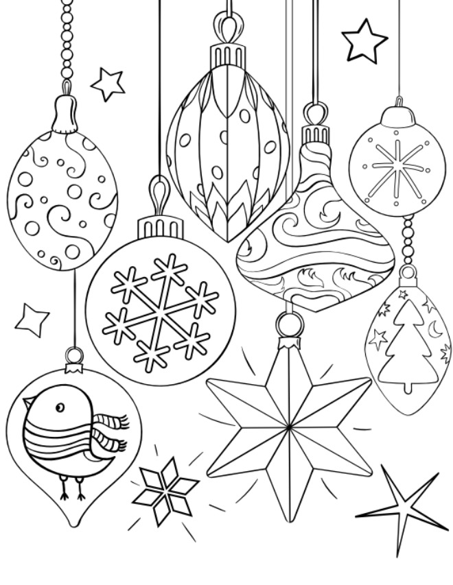 ornament printable coloring pages - photo#17