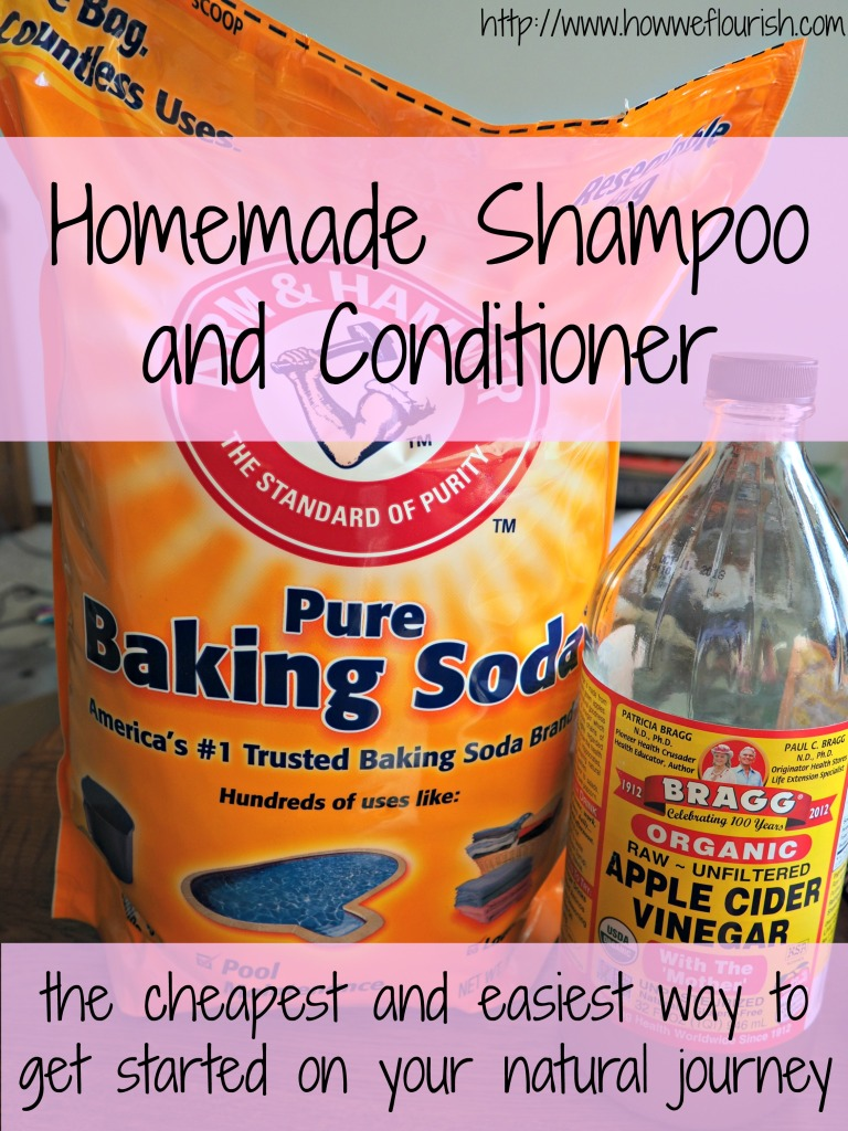 homemade shampoo and conditioner