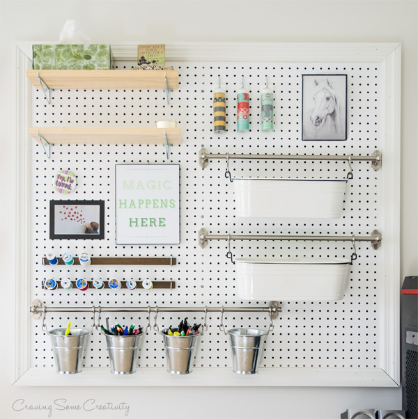 How to Build Your Own Pegboard Organizer