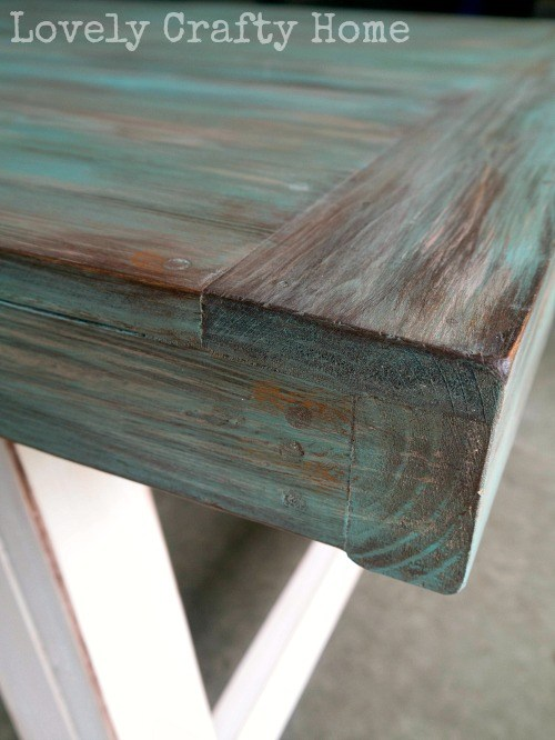 DIY Weathered Table Finish