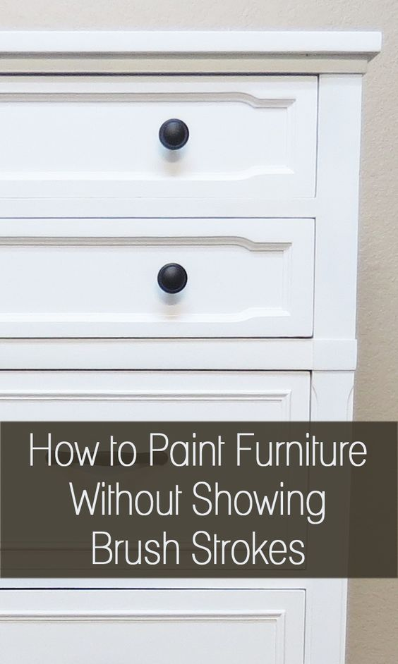 How to Paint Furniture Without Brush Stokes