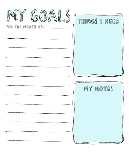 photograph regarding Goals Printable identified as 8 No cost Intent Environment Worksheet Printables Suggestion Junkie