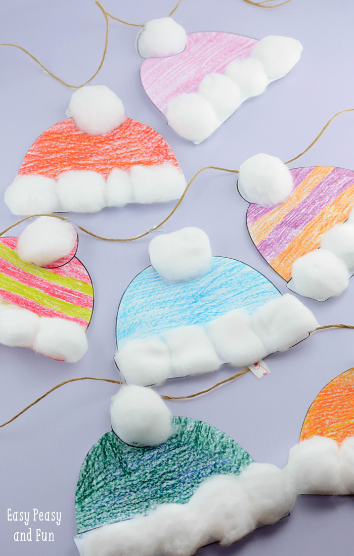 winter hats crafts for kids