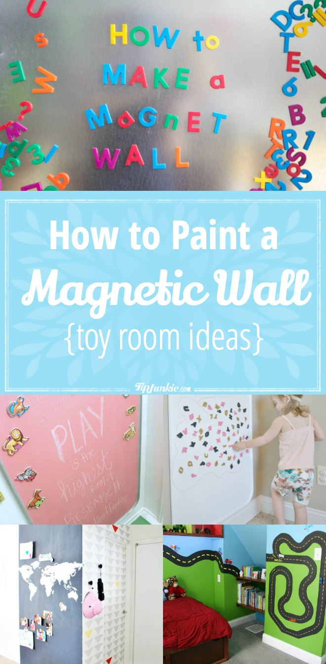 How to Paint a Magnetic Wall {toy room ideas}