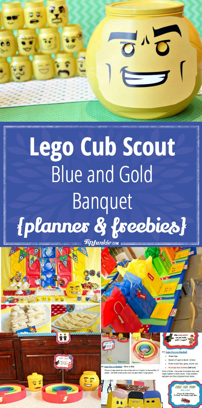 Lego Cub Scout Blue and Gold Banquet {planner & freebies}