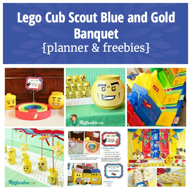 Lego Cub Scout Blue and Gold Banquet