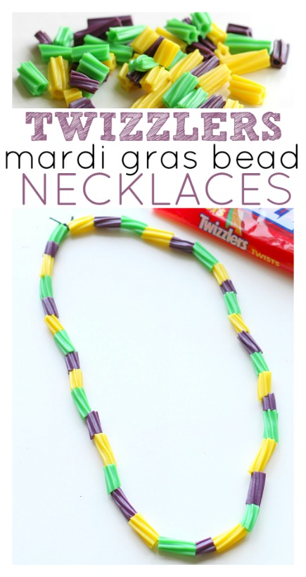 mardi gras twizzler necklace