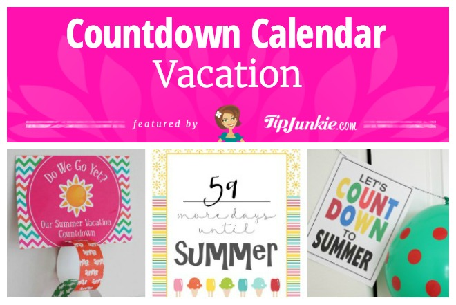 photograph regarding Countdown Calendar Printable referred to as 26 Absolutely free Calendar and Countdowns toward Down load for May possibly Idea Junkie