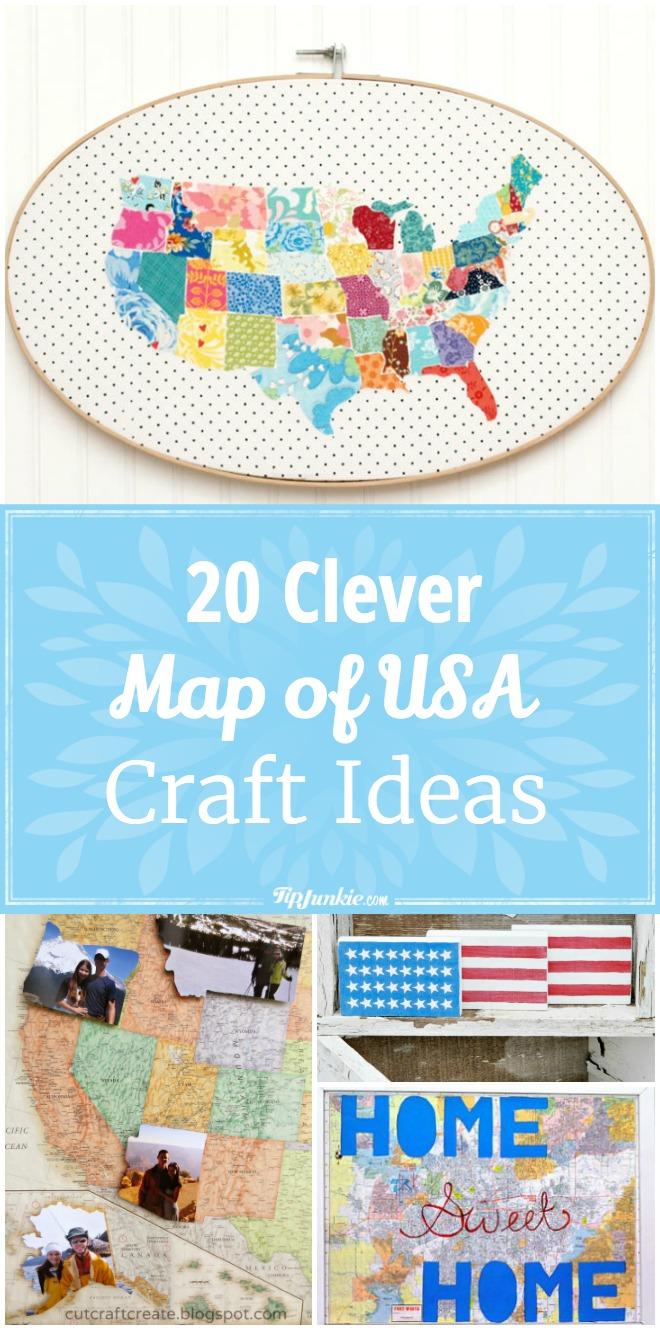20 Clever Map of USA Craft Ideas [easy]
