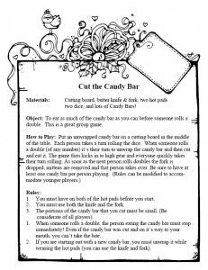 Cut the candybar instructions