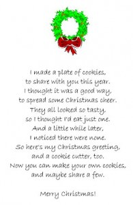 Cookie Cutter Poem