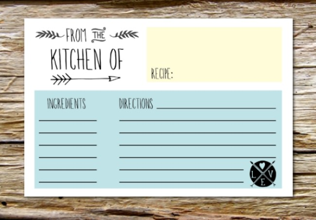 10 Printable Recipe Card Templates free – Templates for Recipe Cards