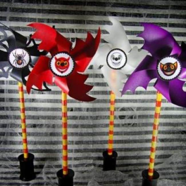 Printable Halloween Pinwheels