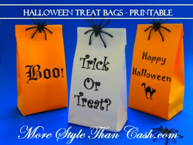 Halloween Treat Bags - Printable