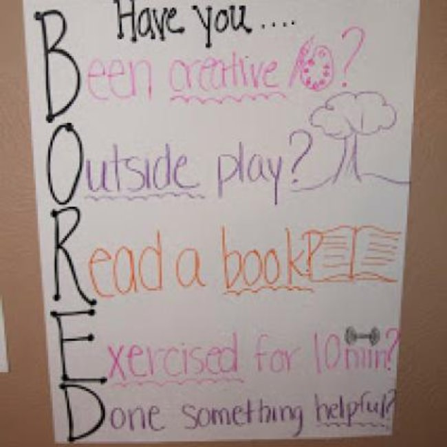 I'm Bored Checklist {Summer Boredom}
