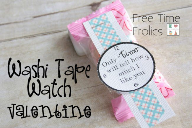 Washi Tape Watch Valentine